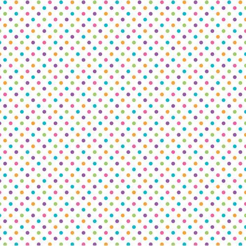 Doodlebug Design - Sugar Coated Cardstock - 12 x 12 Spot Glittered Cardstock - White Rainbow
