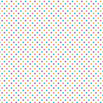 Doodlebug Design - Sugar Coated Cardstock - 12 x 12 Spot Glittered Cardstock - White Rainbow