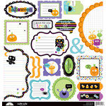 Doodlebug Design - Monster Mania Collection - Halloween - Cute Cuts - 12 x 12 Cardstock Die Cuts
