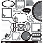 Doodlebug Design - Classic Collection - Cute Cuts - 12 x 12 Cardstock Die Cuts