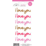Doodlebug Design - Doodles - Cardstock Stickers - I Love You - Multicolor