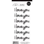 Doodlebug Design - Doodles - Cardstock Stickers - I Love You - Beetle Black
