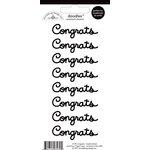 Doodlebug Design - Doodles - Cardstock Stickers - Congrats - Beetle Black