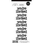 Doodlebug Design - Doodles - Cardstock Stickers - You're Invited - Beetle Black