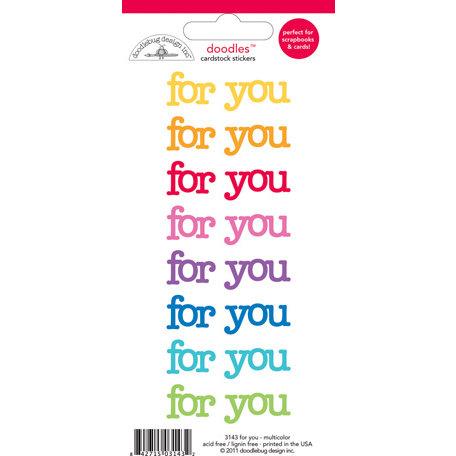 Doodlebug Design - Doodles - Cardstock Stickers - For You - Multicolor