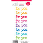Doodlebug Design - Doodles - Cardstock Stickers - For You - Multicolor