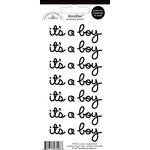 Doodlebug Design - Doodles - Cardstock Stickers - It's a Boy - Beetle Black