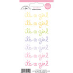 Doodlebug Design - Doodles - Cardstock Stickers - It's a Girl - Multicolor