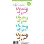 Doodlebug Design - Doodles - Cardstock Stickers - Thinking of You - Multicolor