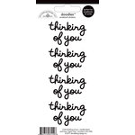 Doodlebug Design - Doodles - Cardstock Stickers - Thinking of You - Beetle Black