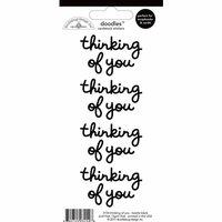Doodlebug Design - Doodles - Cardstock Stickers - Thinking of You - Beetle Black