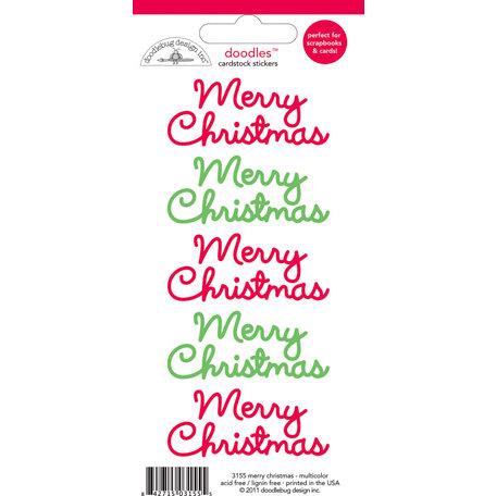 Doodlebug Design - Doodles - Cardstock Stickers - Merry Christmas - Multicolor