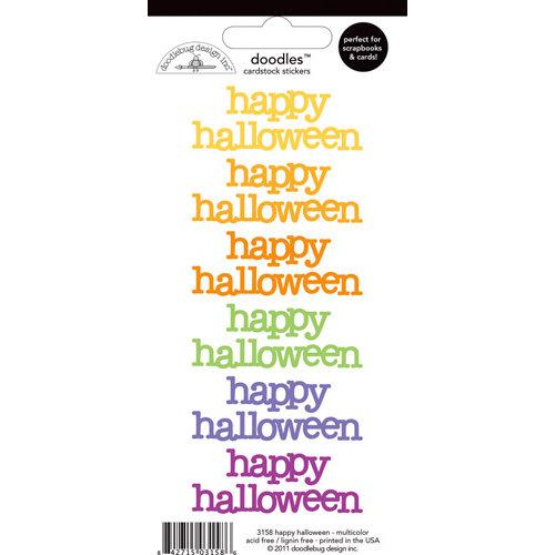 Doodlebug Design - Doodles - Cardstock Stickers - Happy Halloween - Multicolor