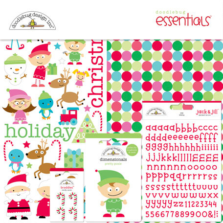 Doodlebug Design - Santa's Workshop Collection - Christmas - Essentials Kit