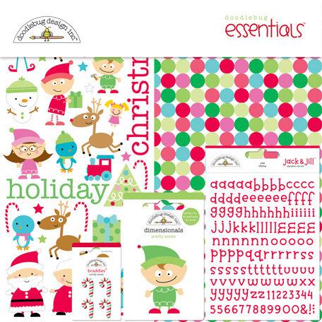 Doodlebug Design - Santa's Workshop Collection - Christmas - Essentials Kit