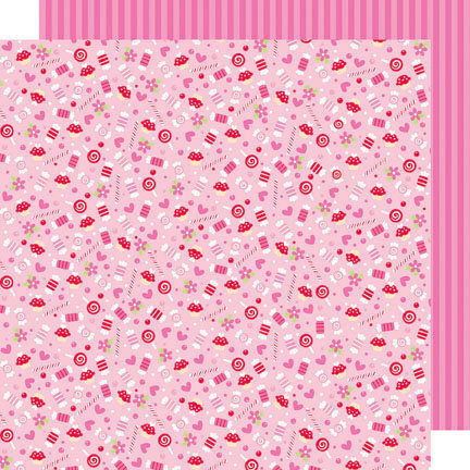Doodlebug Design - Sweet Cakes Collection - 12 x 12 Double Sided Paper - Sweets