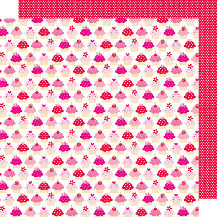 Doodlebug Design - Sweet Cakes Collection - 12 x 12 Double Sided Paper - Baby Cakes