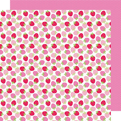 Doodlebug Design - Sweet Cakes Collection - 12 x 12 Double Sided Paper - Berry Sweet