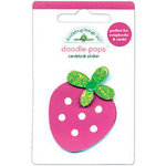 Doodlebug Design - Sweet Cakes Collection - Doodle-Pops - 3 Dimensional Cardstock Stickers - Berry Sweet