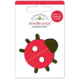 Doodlebug Design - Sweet Cakes Collection - Doodle-Pops - 3 Dimensional Cardstock Stickers - Little Lady
