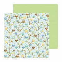 Doodlebug Design - Snips and Snails Collection - 12 x 12 Double Sided Paper - Nighty Night