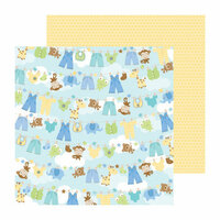 Doodlebug Design - Snips and Snails Collection - 12 x 12 Double Sided Paper - Hangin Out Boy