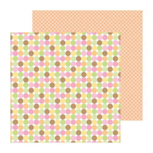 Doodlebug Design - Sugar and Spice Collection - 12 x 12 Double Sided Paper - Baby Bunting