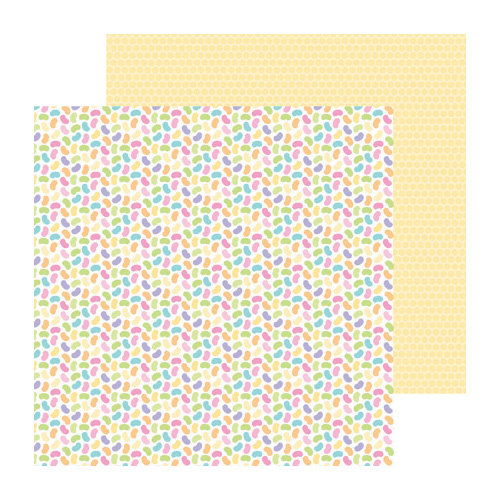 Doodlebug Design - Hello Spring Collection - 12 x 12 Double Sided Paper - Rainbow Jellies