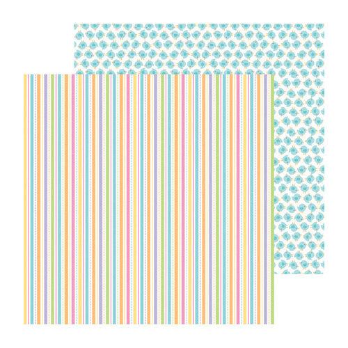 Doodlebug Design - Hello Spring Collection - 12 x 12 Double Sided Paper - Springtime Stripe