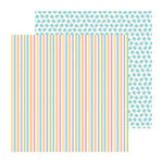 Doodlebug Design - Hello Spring Collection - 12 x 12 Double Sided Paper - Springtime Stripe