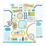 Doodlebug Design - Boys Only Collection - Cute Cuts - 12 x 12 Cardstock Die Cuts
