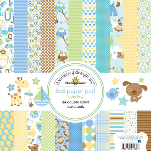 Doodlebug Design - Snips and Snails Collection - 6 x 6 Paper Pad