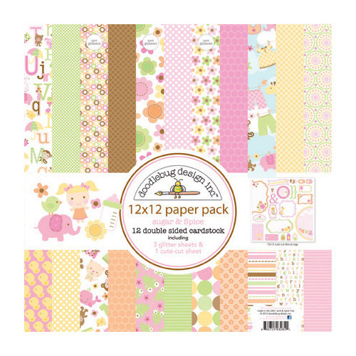 Doodlebug Design - Sugar and Spice Collection - 12 x 12 Paper Pack