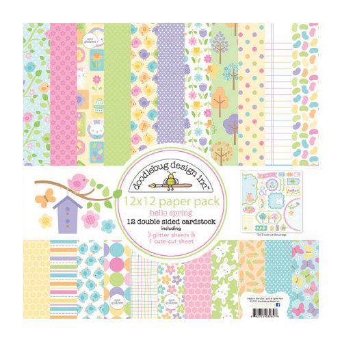 Doodlebug Design - Hello Spring Collection - 12 x 12 Paper Pack