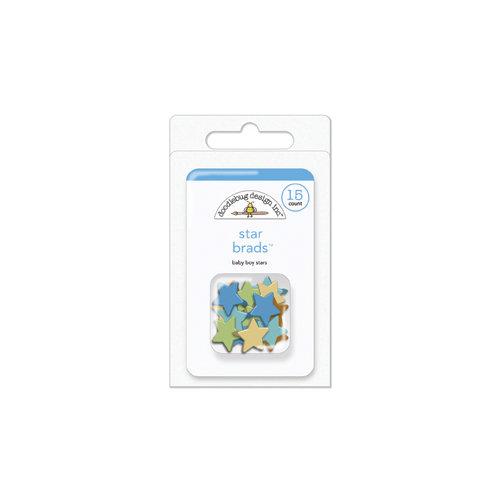 Doodlebug Design - Snips and Snails Collection - Brads - Baby Boy - Star