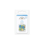 Doodlebug Design - Snips and Snails Collection - Brads - Baby Boy - Star
