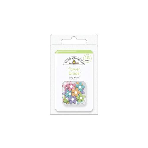 Doodlebug Design - Hello Spring Collection - Brads - Flower