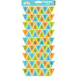 Doodlebug Design - Boys Only Collection - Cardstock Stickers - Party Banner - Alphabet