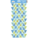 Doodlebug Design - Snips and Snails Collection - Cardstock Stickers - Party Banner - Alphabet