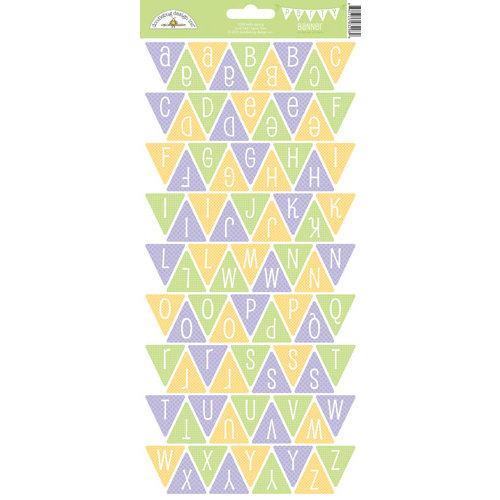 Doodlebug Design - Hello Spring Collection - Cardstock Stickers - Party Banner - Alphabet