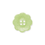 Doodlebug Design - Oodles - Buttons - Flower - 19 mm - Limeade Glitter