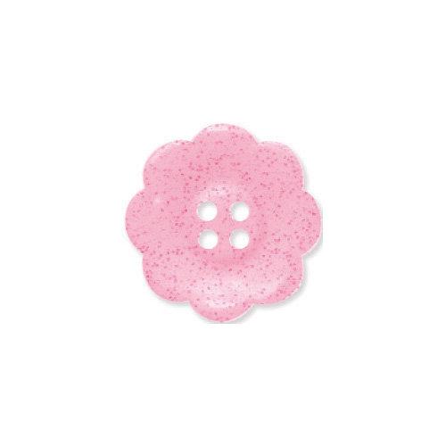 Doodlebug Design - Oodles - Buttons - Flower - 19 mm - Cupcake Glitter