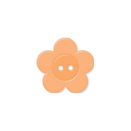 Doodlebug Design - Oodles - Buttons - Flower - 19 mm - Melon