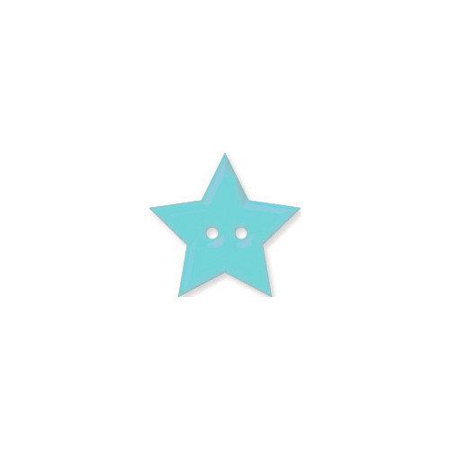 Doodlebug Design - Oodles - Buttons - Star - 19 mm - Swimming Pool