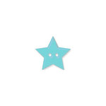 Doodlebug Design - Oodles - Buttons - Star - 19 mm - Swimming Pool