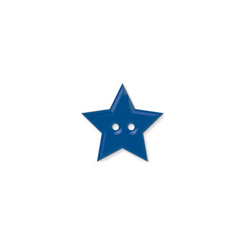 Doodlebug Design - Oodles - Buttons - Star - 15 mm - Blue Berry