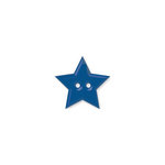 Doodlebug Design - Oodles - Buttons - Star - 15 mm - Blue Berry