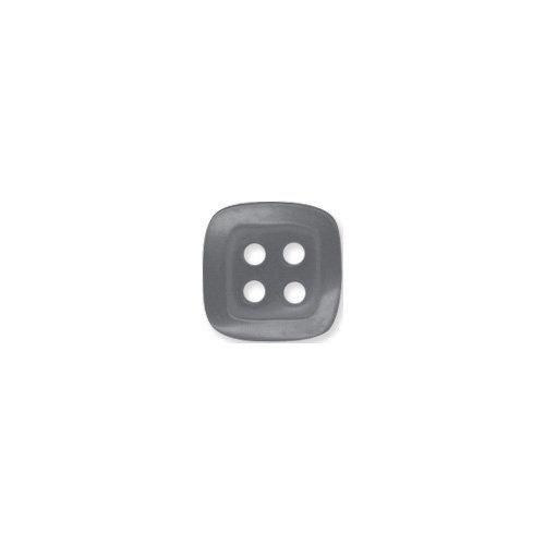 Doodlebug Design - Oodles - Buttons - Square - 13 mm - Gray