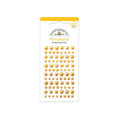 Doodlebug Design - Adhesive Pearls - Mini - Bumblebee
