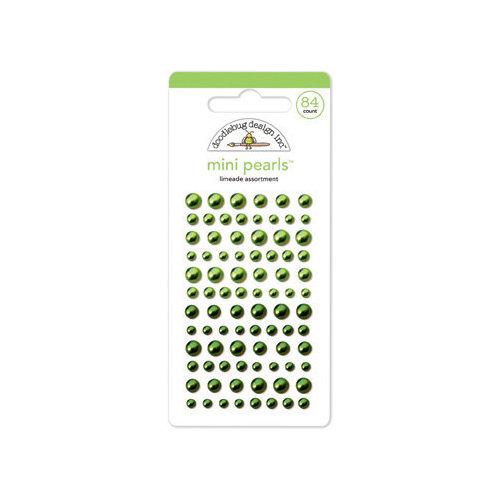 Doodlebug Design - Adhesive Pearls - Mini - Limeade